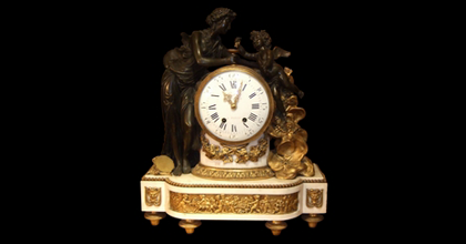 antique Louis XVI mantel clock