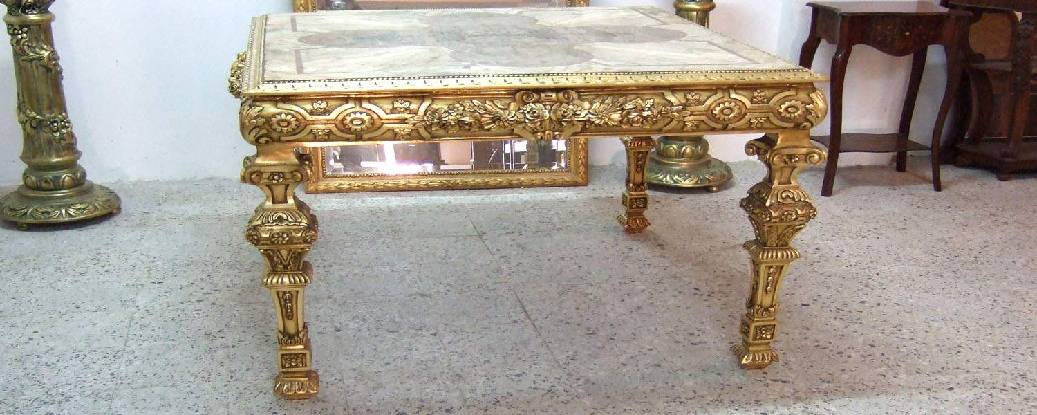 French style carved and gilded center table